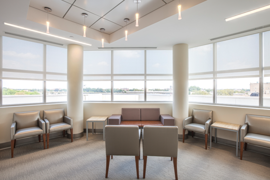 Lounge space at Brooklyn Surgery Center